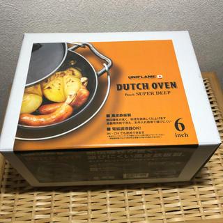 ユニフレーム(UNIFLAME)の新品未使用 ユニフレーム  ダッチオーブン 6インチ(調理器具)
