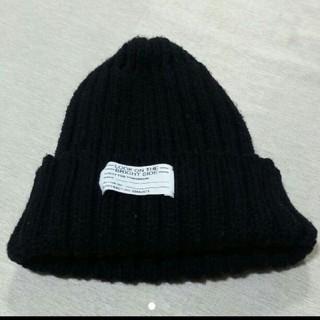 ジーユー(GU)の最終値下げ ニット 帽子(GU)ブラック(ニット帽/ビーニー)