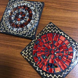 ニコアンド(niko and...)の《送料込》木製タイルコースター 2枚セット✨(テーブル用品)