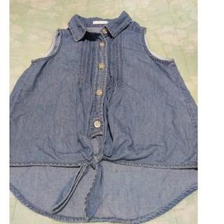 ジーユー(GU)の✨美品☆ノースリーブ、綿シャツ、キッズ女児(その他)