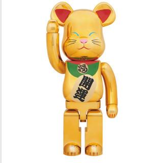 招き猫 ベアブリック 金メッキ弐 1000%