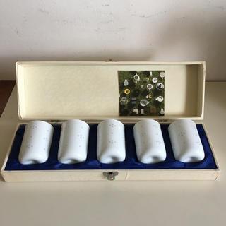 白山陶器 - 【送料込 未使用 希少】白山陶器 蛍抜き 湯のみ 5個セット 箱付き