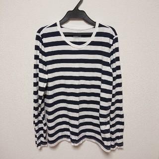 ムジルシリョウヒン(MUJI (無印良品))の無印良品 ボーダーカットソー ロンT 2018 ネイビー(Tシャツ(長袖/七分))