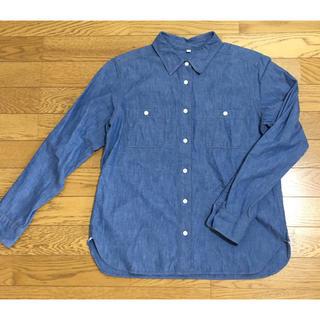 ムジルシリョウヒン(MUJI (無印良品))のムジラボ インディゴ シャツ 日本製 無印(シャツ/ブラウス(長袖/七分))