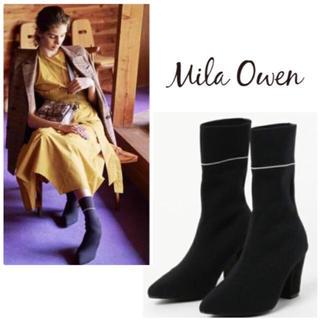 ミラオーウェン(Mila Owen)のMila Owenのブーツ  グリーン  37(ブーツ)