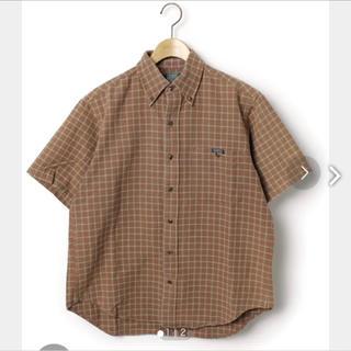 エーグル(AIGLE)のAIGLE チェックシャツ ブラウン(シャツ/ブラウス(半袖/袖なし))
