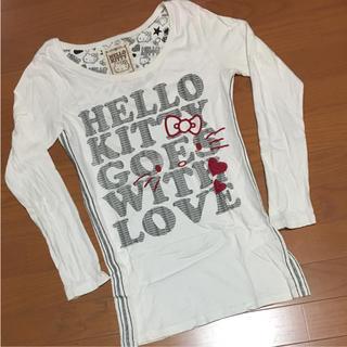 サンリオ(サンリオ)の♡HELLO  KITTY  ロングTシャツ(Tシャツ(長袖/七分))