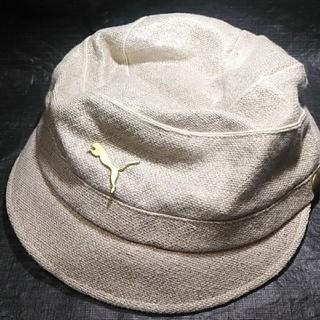 プーマ(PUMA)のプーマ 婦人用帽子(ベージュ色)(ハット)