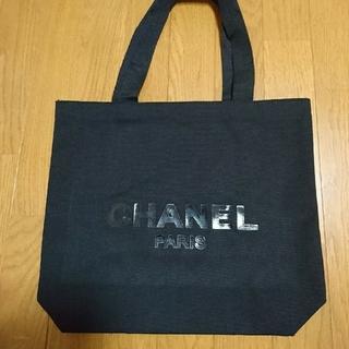 シャネル(CHANEL)のCHANEL シャネル ノベルティ 布製エコバッグ 黒色 ◎新品未使用◎(エコバッグ)
