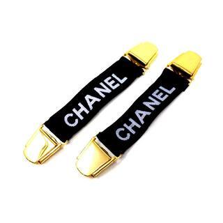 シャネル(CHANEL)の【シャネル】 ヴィンテージ アームバンド ブラック/ゴールド金具(サスペンダー)