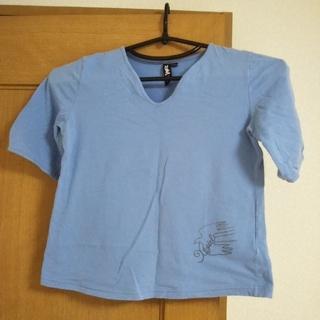 エックスガール(X-girl)のエックスガール X-GIRL トップス 半袖Tシャツ ライトブルー レディース(Tシャツ(半袖/袖なし))