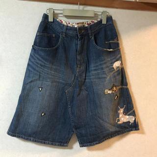 ツモリチサト(TSUMORI CHISATO)のツモリチサトユートピアデニムスカートサイズ1(ひざ丈スカート)