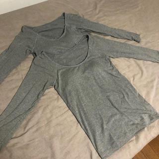 ムジルシリョウヒン(MUJI (無印良品))の無印良品/あったかカップ付インナー/8分袖(アンダーシャツ/防寒インナー)