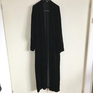 〈used〉velour maxi gown〈値下げ〉(ガウンコート)