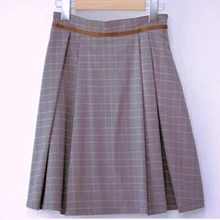 マーキュリーデュオ(MERCURYDUO)のリオマル  グレンチェックタックスカート 台形スカート Aライン snidel(ミニスカート)