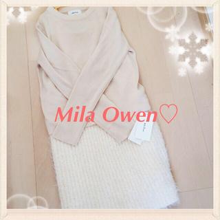 ミラオーウェン(Mila Owen)の新品未使用タグ付き♡ワンピース(ミニワンピース)