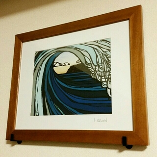 Heather Brown 有名画家 ヘザーブラウン サーフ patagonia(絵画/タペストリー)