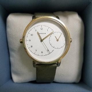 スカーゲン(SKAGEN)のスカーゲン SKAGEN カーキ 時計 レディース(腕時計)