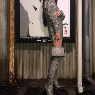イエローブーツ(Yellow boots)の【完売レア品】yello shoes ドラゴン ミニバッグ グレー(ハンドバッグ)