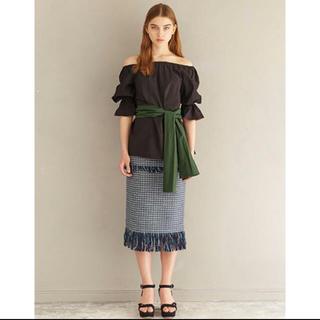 ルシェルブルー(LE CIEL BLEU)のルシェルブルー フリンジスカート(ひざ丈スカート)