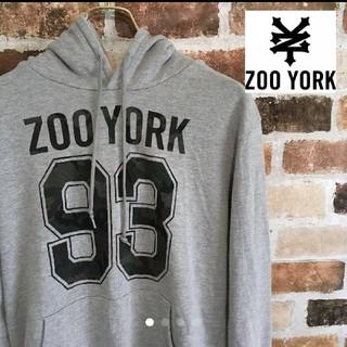 ズーヨーク(ZOO YORK)のZOO YORK グレーパーカー Lサイズ(パーカー)