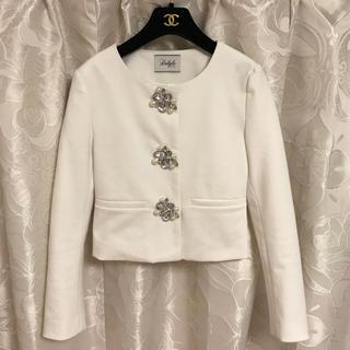デイライルノアール(Delyle NOIR)の新品♡ビジューボタンノーカラージャケット♡(ノーカラージャケット)