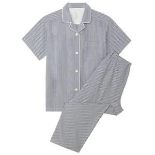 ムジルシリョウヒン(MUJI (無印良品))の新品  無印良品 脇に縫い目のないサッカー半袖パジャマ  (パジャマ)