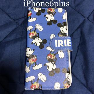 アイリーライフ(IRIE LIFE)のIRIE×Disney  iPhone6plus用 手帳型 カバー ケース(iPhoneケース)