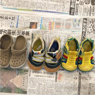 クロックス(crocs)の14㎝3足セット(スニーカー)