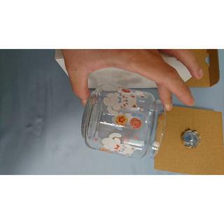 スイマー(SWIMMER)のSWIMMERスイマーガラスキャニスターLネコフラワー(収納/キッチン雑貨)