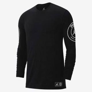 ナイキ(NIKE)のpsg nike jordan long tee Mサイズ(Tシャツ/カットソー(七分/長袖))