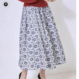 シェリーモナ(Cherie Mona)のchapi様専用 cherie mona 刺繍 フラワー 花柄 フレアスカート(ひざ丈ワンピース)