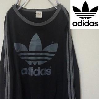 アディダス(adidas)の80s 銀タグ アディダス adidas サイドライン ロゴロンT(Tシャツ/カットソー(七分/長袖))