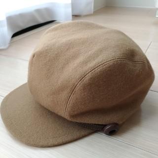 バーバリーブルーレーベル(BURBERRY BLUE LABEL)のバーバリーブルーレーベル ウールキャスケット 帽子 ハット キャメル ブラウン(キャスケット)