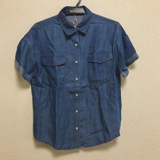 エディグレース(EDDY GRACE)のEDDY GRACE エディグレース 青 ブルー デニム 半袖シャツ(シャツ/ブラウス(半袖/袖なし))