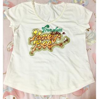 半袖 Tシャツ ♡フリフリレース♡ はちみつ🍯 ラメキラキラ🌟 jines