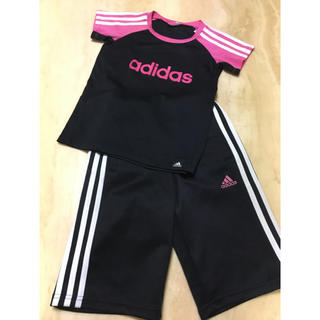 アディダス(adidas)の女の子❤️アディダス❤️半袖 ハーフパンツ上下❤️130cm(Tシャツ/カットソー)