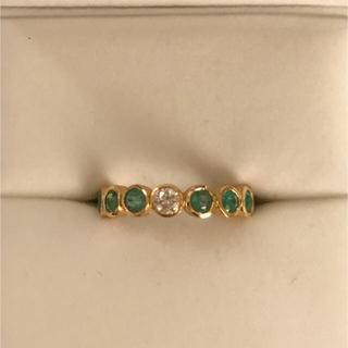 バーニーズニューヨーク(BARNEYS NEW YORK)のへちま様専用※magnolia12 エメラルド×ダイヤモンド リング (リング(指輪))