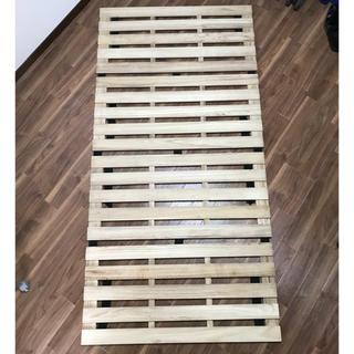 4つ折り 桐 すのこベッド シングルサイズ 耐荷重200kg(すのこベッド)