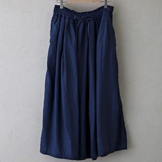 ヴェリテクール(Veritecoeur)のヴラスブラム 平織りリネンギャザースカート(ロングスカート)