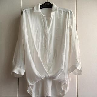 アネラリュクス(ANELALUX)のANELA✳︎LUX ♡2WAYとろみ素材の美ドレープシャツ(シャツ/ブラウス(長袖/七分))