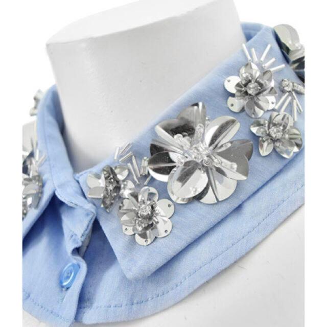Chesty(チェスティ)のchesty チェスティ Spangle Collar ブルー レディースのアクセサリー(つけ襟)の商品写真