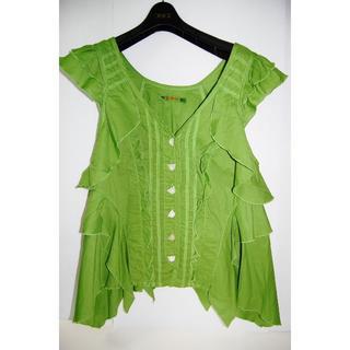 アルベロ(ALBERO)のアルベロベロのノースリーブシャツ(シャツ/ブラウス(半袖/袖なし))