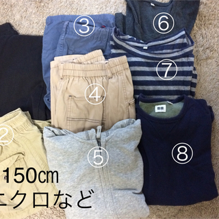 ユニクロ(UNIQLO)の値下げ!ユニクロGAP150.160福袋長ズボンTシャツパーカー(パンツ/スパッツ)