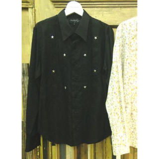 ミルクボーイ(MILKBOY)のMILKBOY  milk スタッズドレスシャツ ブラック(シャツ)