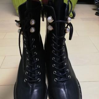 ザラ(ZARA)の本革ブーツ 24.5-25cm(ブーツ)