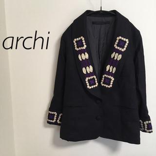 アーキ(archi)のarchi アーキ 刺繍ジャケット(テーラードジャケット)