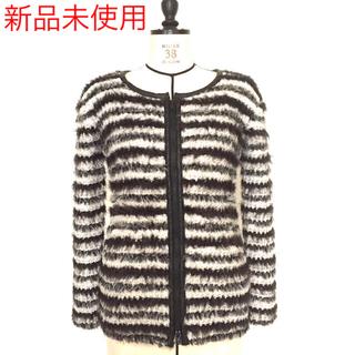 【新品未使用】BERARDI 本革レザー付きニットジャケット