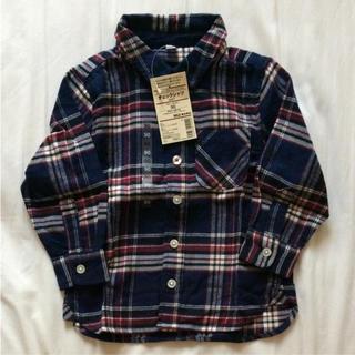 MUJI (無印良品) - チェックシャツ 新品 無印良品 90
