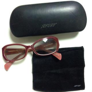 シフリー(SiFURY)のSiFURY シフリー サングラス セルフレーム ケース付 眼鏡拭き付 ピンク(サングラス/メガネ)
